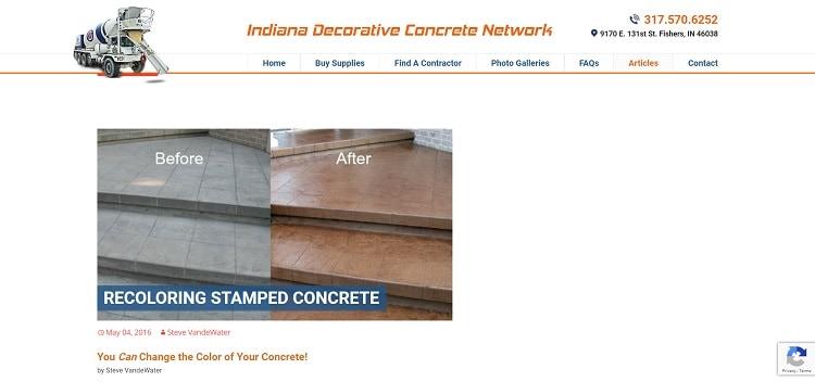 indiana decorative concrete network