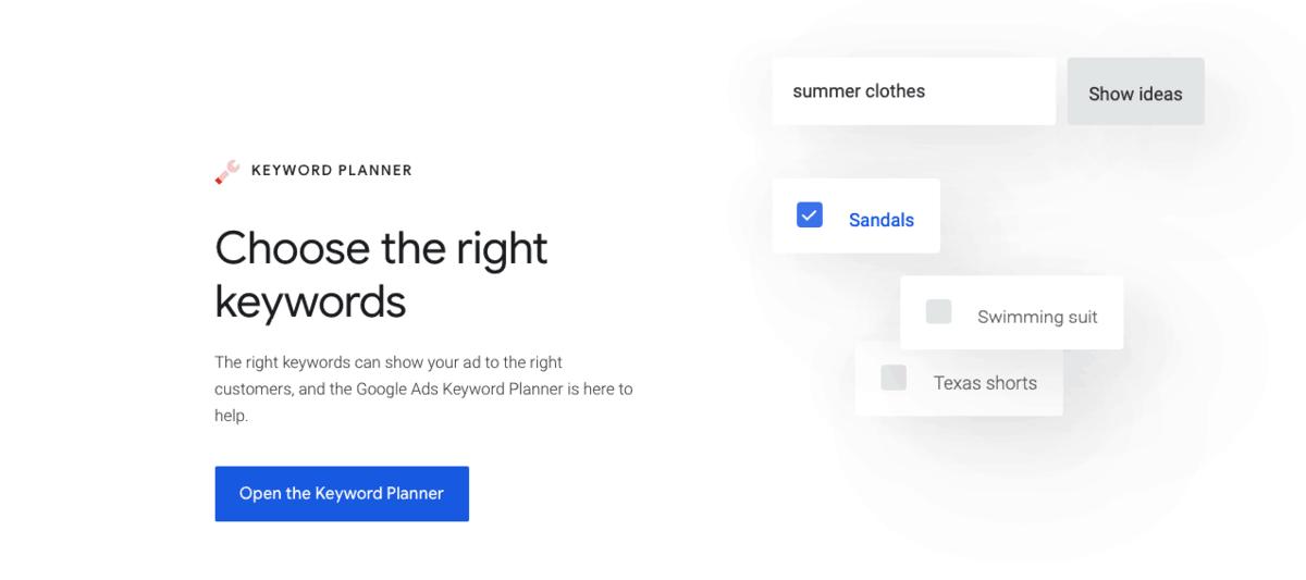 Google's Keyword Planner