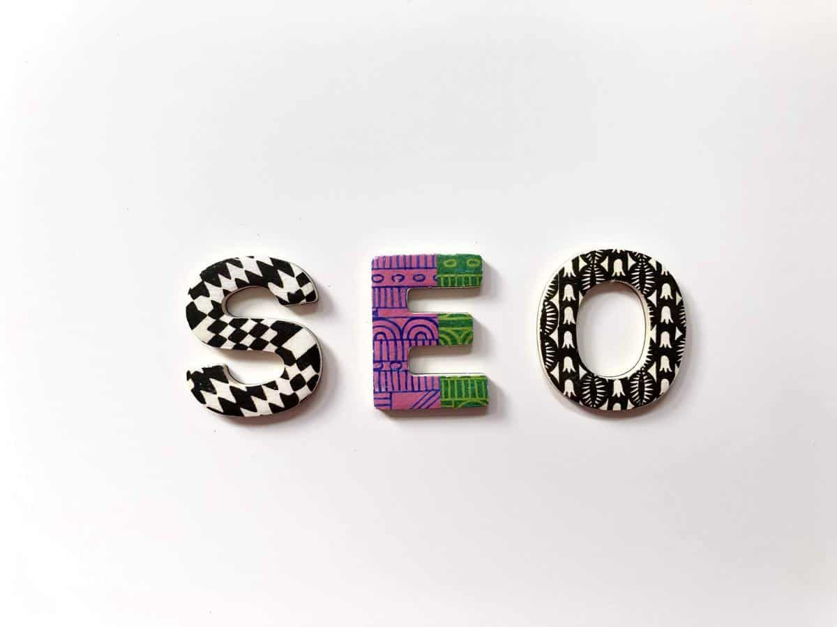 SEO in colorful letters