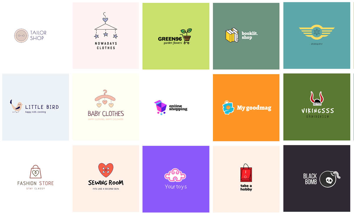 Multiple logo examples