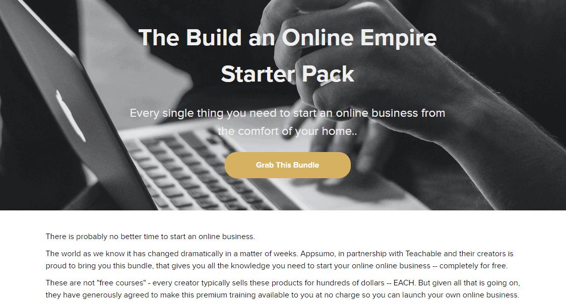 The Build an Online Empire Starter Pack
