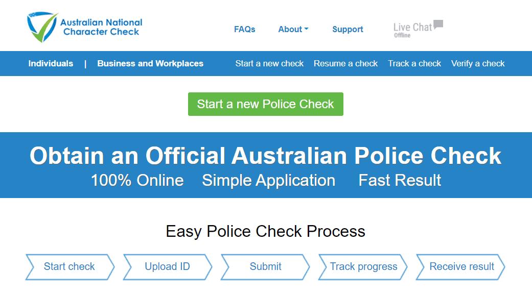 Australian national check