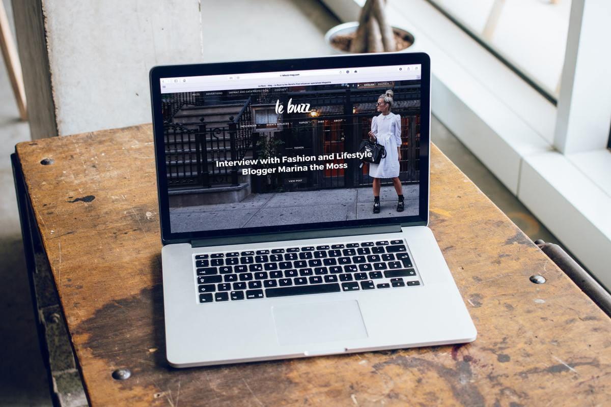Le Buzz website homepage