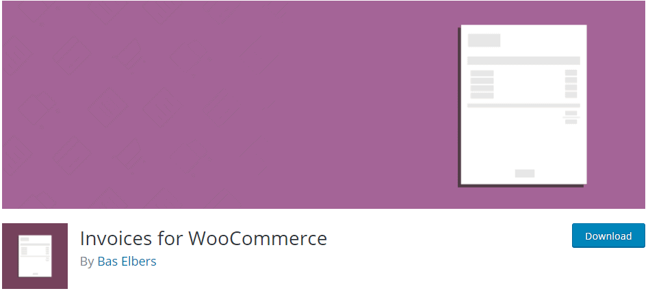 Invoices for WooCommerce by Bas Elbers