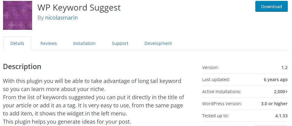 WP Keyword Suggest