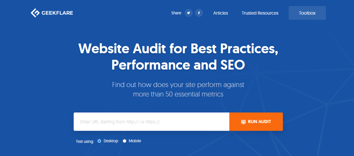 GeekFlare Website Audit